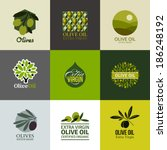 set of vector logos  labels and ... | Shutterstock .eps vector #186248192