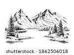 hand drawn vector nature... | Shutterstock .eps vector #1862506018