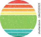 vintage retro striped sunset... | Shutterstock .eps vector #1862520325