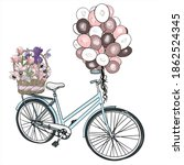 Illustration Of A Bicycle With ...