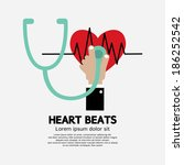 heart beats vector illustration | Shutterstock .eps vector #186252542