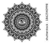 vintage mandala tattoo  vector... | Shutterstock .eps vector #1862540998