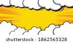 pop art comic background with... | Shutterstock .eps vector #1862565328