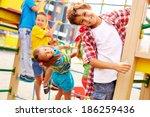 image of joyful friends having...   Shutterstock . vector #186259436