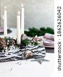 Christmas Table Setting. Advent ...