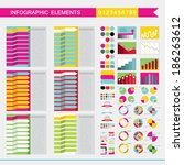 set of colorful infographic... | Shutterstock .eps vector #186263612