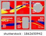 set of social media square... | Shutterstock .eps vector #1862650942