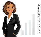 businesswoman | Shutterstock .eps vector #186267056
