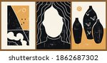 set of three abstract...   Shutterstock .eps vector #1862687302