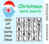 christmas word search puzzle... | Shutterstock .eps vector #1862692618