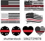 firefighter thin red line... | Shutterstock .eps vector #1862729878
