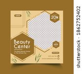 beauty spa salon banner ...   Shutterstock .eps vector #1862752402