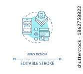 ui and ux design concept icon....