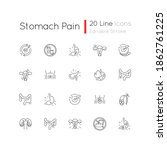 stomach pain linear icons set.... | Shutterstock .eps vector #1862761225