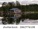 Boathouse On Lake Ostersjon...