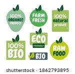fresh healthy organic vegan... | Shutterstock .eps vector #1862793895