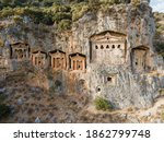 Kings Tombs In The Cliff Face...