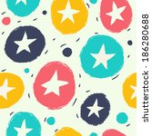 seamless simple pattern with... | Shutterstock .eps vector #186280688