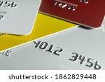 closeup credit card payment...   Shutterstock . vector #1862829448
