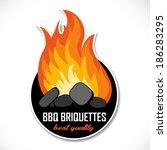 charcoal briquettes icon... | Shutterstock .eps vector #186283295