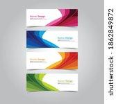 abstract wave design banner web ... | Shutterstock .eps vector #1862849872