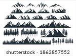 assorted mountain pine tree...   Shutterstock .eps vector #1862857552