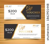 gift voucher template with... | Shutterstock .eps vector #1862901448