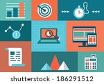 vector concept of statistic and ... | Shutterstock .eps vector #186291512