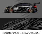 car wrap decal designs.... | Shutterstock .eps vector #1862946955