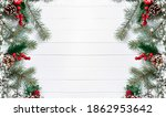 new year and christmas banner... | Shutterstock . vector #1862953642