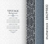 vintage background  antique... | Shutterstock .eps vector #186295832