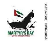 december 1. uae commemoration... | Shutterstock .eps vector #1862990845