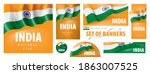 vector set of banners with the... | Shutterstock .eps vector #1863007525