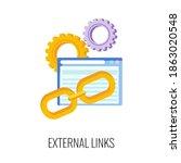 external link flat icon. seo ...   Shutterstock .eps vector #1863020548