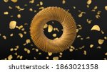 circularly sorted crunchy... | Shutterstock . vector #1863021358