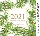 2021 happy new year card for... | Shutterstock .eps vector #1863053455