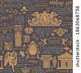 seamless pattern on theme of... | Shutterstock .eps vector #1863068758