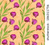 seamless pattern with pink... | Shutterstock . vector #186311756