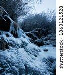 Frozen Waterfall In Winter Tim...