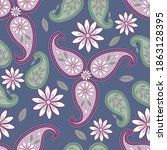 Abstract Floral Raster Seamless ...