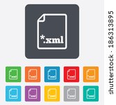file document icon. download... | Shutterstock .eps vector #186313895