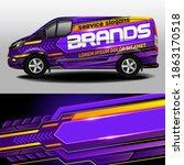 vector design of delivery van.... | Shutterstock .eps vector #1863170518