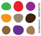 random blotch  inkblot. pebble  ... | Shutterstock .eps vector #1863184705