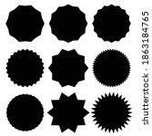 badge  medal   starburst ... | Shutterstock .eps vector #1863184765