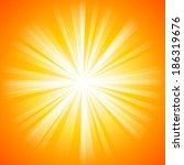 summer orange background with... | Shutterstock .eps vector #186319676