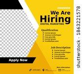 job vacancy design poster. we... | Shutterstock .eps vector #1863221578