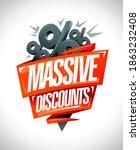 massive discounts sale banner... | Shutterstock . vector #1863232408