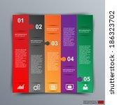 infographics vector design... | Shutterstock .eps vector #186323702