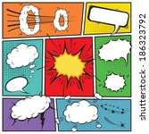 comic speech bubbles and comic... | Shutterstock . vector #186323792