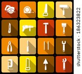 tools icons set of wrench... | Shutterstock . vector #186323822